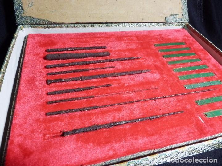 Antigüedades: Antiguo y raro set en réplicas de acupuntura china - Dinastía Han - Foto 2 - 79221457