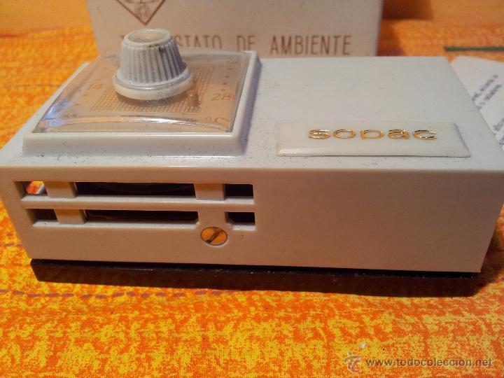 Antigüedades: ANTIGUO TERMOSTATO DE AMBIENTE--SOPAC...SIN USO EN CAJA CON INSTRUCCIONES - Foto 3 - 79242485