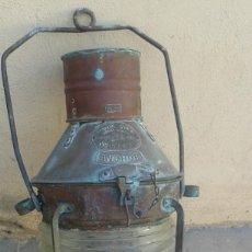 Antigüedades: FAROL BARCO MARINO NAVAL ANTIGUO GRANDE 50 CMS ANCHOR HONG KONG SIGLO XX ORIGINAL 50 CMS MIRA FOTOS. Lote 79524501