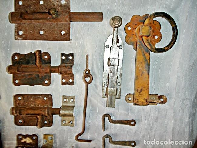 Antigüedades: LOTE CERROJOS Y PESTILLOS - Foto 2 - 79589529