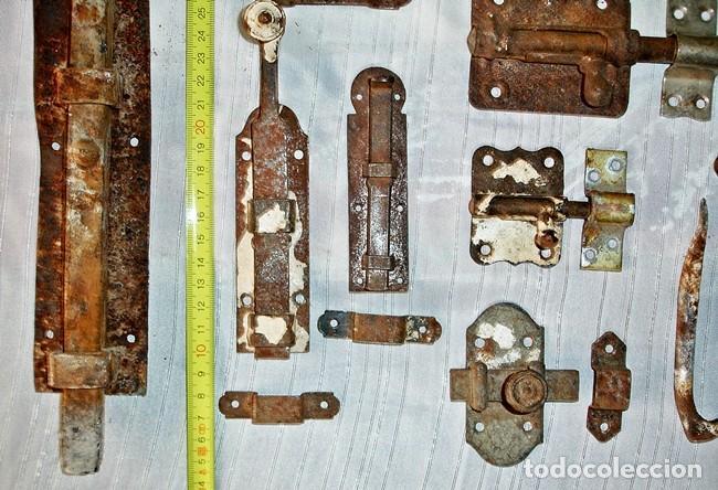 Antigüedades: LOTE CERROJOS Y PESTILLOS - Foto 3 - 79589529