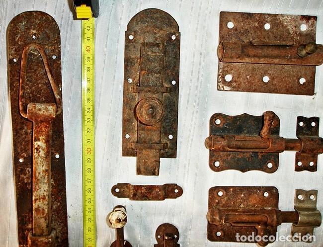Antigüedades: LOTE CERROJOS Y PESTILLOS - Foto 4 - 79589529