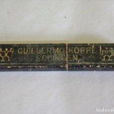 Antigüedades: CAJA VACIA NAVAJA DE AFITAR GUILLERMO HOPPE. Lote 79620685