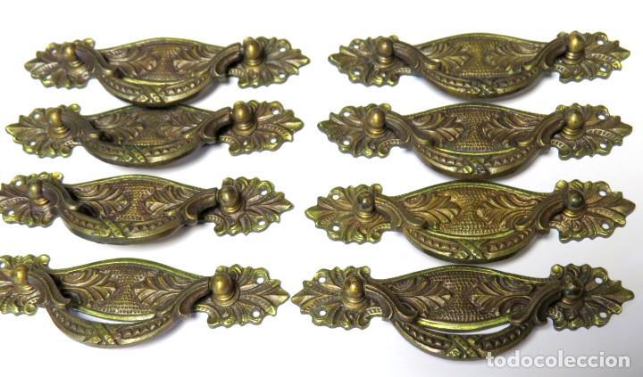 Juego de ocho antiguos tiradores de bronce para comprar tiradores antiguos en todocoleccion - Tiradores de cajones ...
