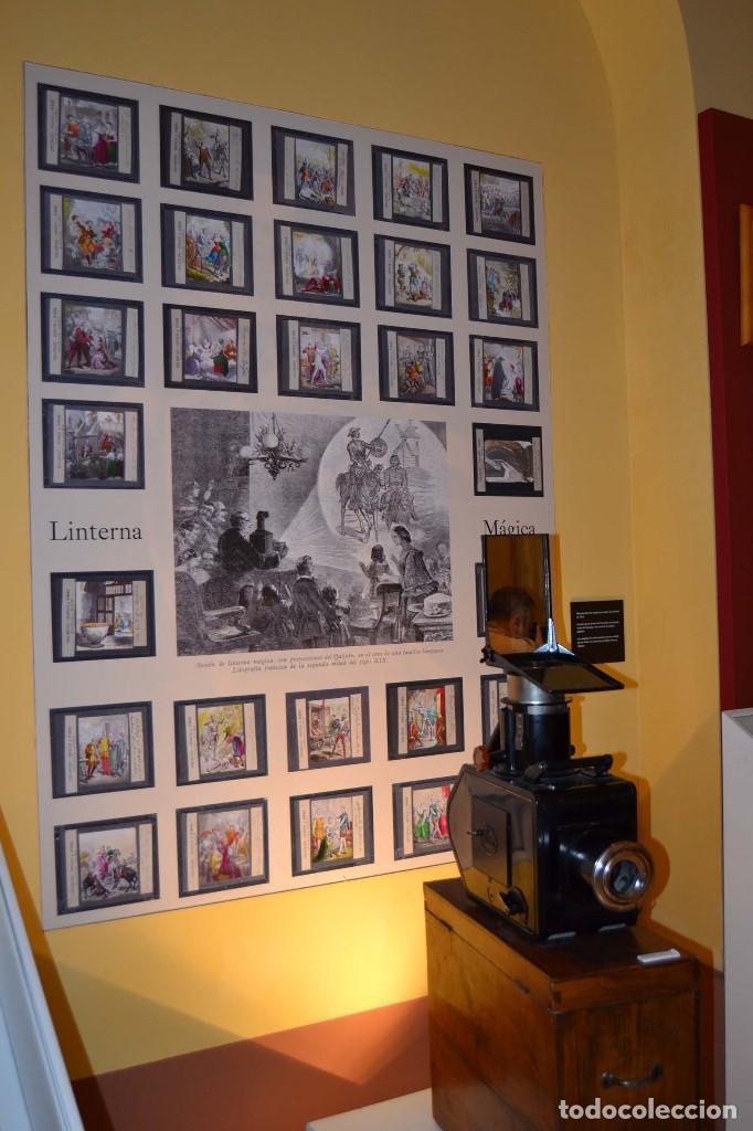 COLECCIÓN DE VISTAS DON QUIJOTE DE LA MANCHA + LINTERNA ICA, DRESDEN, PRINCIPIOS S.XX (Antigüedades - Técnicas - Aparatos de Cine Antiguo - Linternas Mágicas Antiguas)