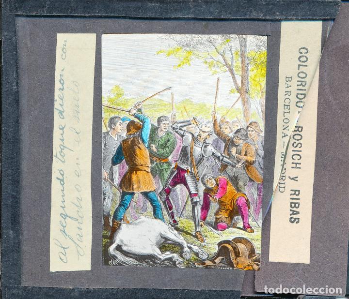 Antigüedades: COLECCIÓN DE VISTAS DON QUIJOTE DE LA MANCHA + LINTERNA ICA, DRESDEN, PRINCIPIOS S.XX - Foto 4 - 79858461