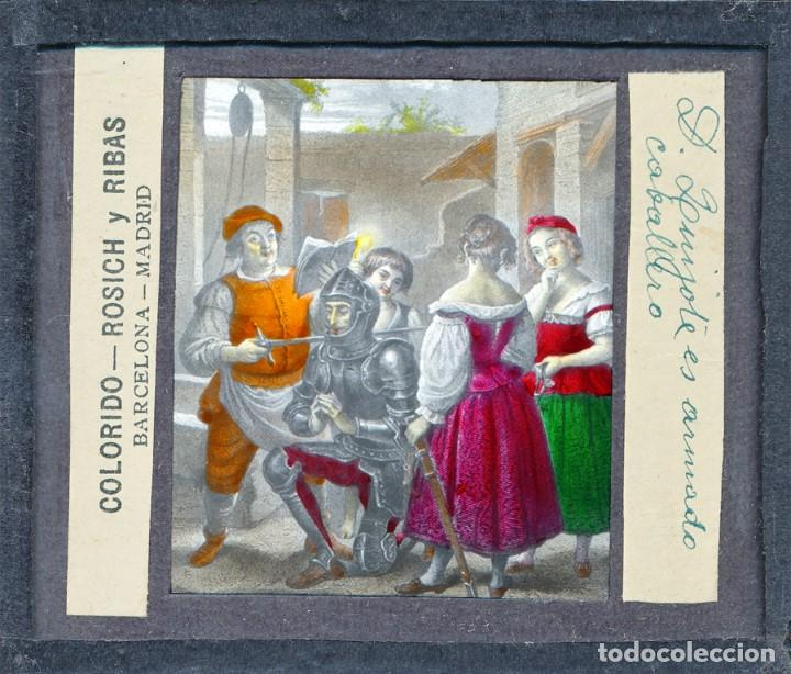 Antigüedades: COLECCIÓN DE VISTAS DON QUIJOTE DE LA MANCHA + LINTERNA ICA, DRESDEN, PRINCIPIOS S.XX - Foto 10 - 79858461