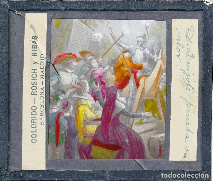 Antigüedades: COLECCIÓN DE VISTAS DON QUIJOTE DE LA MANCHA + LINTERNA ICA, DRESDEN, PRINCIPIOS S.XX - Foto 12 - 79858461