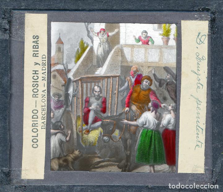 Antigüedades: COLECCIÓN DE VISTAS DON QUIJOTE DE LA MANCHA + LINTERNA ICA, DRESDEN, PRINCIPIOS S.XX - Foto 13 - 79858461