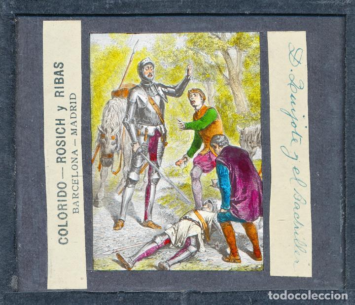 Antigüedades: COLECCIÓN DE VISTAS DON QUIJOTE DE LA MANCHA + LINTERNA ICA, DRESDEN, PRINCIPIOS S.XX - Foto 14 - 79858461