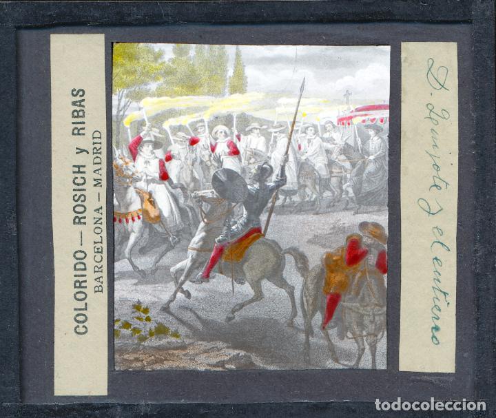 Antigüedades: COLECCIÓN DE VISTAS DON QUIJOTE DE LA MANCHA + LINTERNA ICA, DRESDEN, PRINCIPIOS S.XX - Foto 15 - 79858461