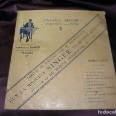 Antigüedades: LAMINAS DE BORDADOS MAQUINA DE COSER SINGER - PRIMERA SERIE. Lote 79926865