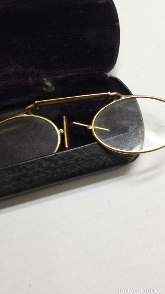 Antigüedades: Gafas binoculares con funda original CF principio del siglo XX - Foto 4 - 80048365