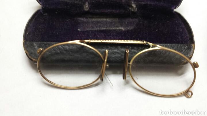 Antigüedades: Gafas binoculares con funda original CF principio del siglo XX - Foto 6 - 80048365
