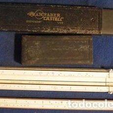 Antigüedades: REGLA CALCULO 2 A.W. FABER CASTELL 1 87 SISTEMA RIETZ-MADERA-REGLA CALCULO SLIDE RULE. Lote 80114925