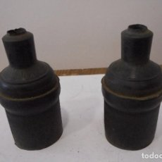 Antigüedades: ENCHUFES DE GOMA HEMBRA TRIFÁSICOS. Lote 80131369