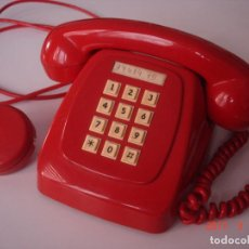 Teléfonos: TELÉFONO MODELO HERALDO COLOR ROJO ORIGINAL. Lote 80194045