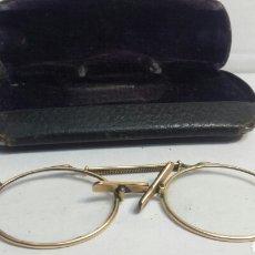 Antigüedades: GAFAS BINOCULARES CON FUNDA ORIGINAL CF PRINCIPIO DEL SIGLO XX. Lote 80048365