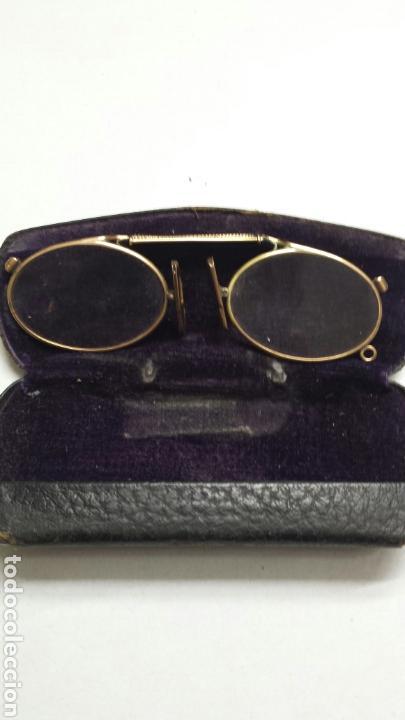 Antigüedades: Gafas binoculares con funda original CF principio del siglo XX - Foto 2 - 80048365