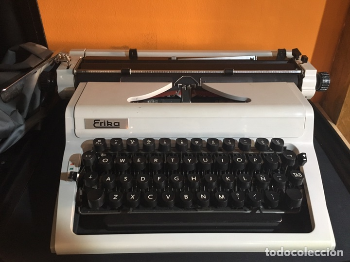 MAQUINA ESCRIBIR ERIKA (Antigüedades - Técnicas - Máquinas de Escribir Antiguas - Erika)
