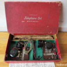 Teléfonos: THE KAY TELEPHONE SET - MADE IN ENGLAND - ANTIGUO JUEGO TELEGRAFIA TELEFONIA. Lote 80738290