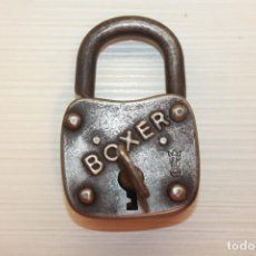 Antigüedades: ANTIGUO CANDADO BOXER MADE IN GERMANY, FUNCIONA, 7,50X5 CM. Lote 80879211