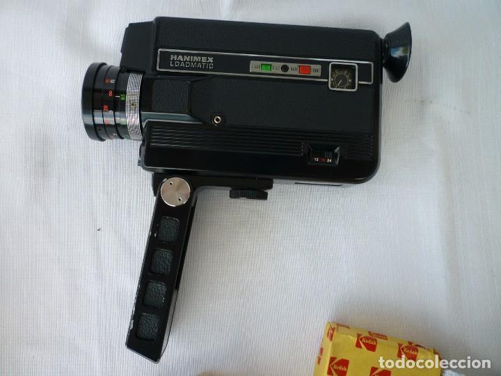 CAMARA SUPER 8 HANIMEX COMPACT CON PELÍCULA SIN USAR INSTRUCCIONES Y BOLSA (Antigüedades - Técnicas - Aparatos de Cine Antiguo - Cámaras de Super 8 mm Antiguas)