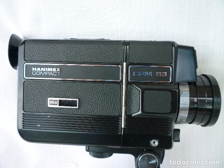Antigüedades: CAMARA SUPER 8 HANIMEX COMPACT CON PELÍCULA SIN USAR INSTRUCCIONES Y BOLSA - Foto 4 - 80959052
