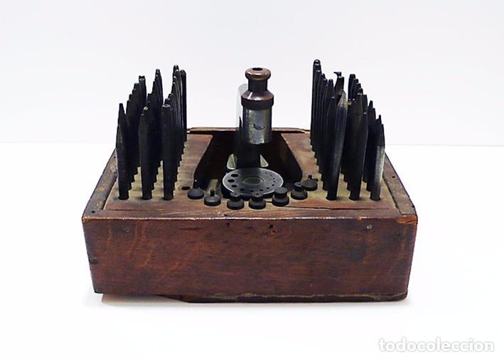 Antigüedades: Herramientas de precisión banquillo de relojero o joyero - C.1900 - Foto 3 - 80972016