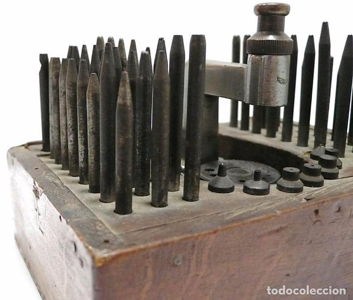 Antigüedades: Herramientas de precisión banquillo de relojero o joyero - C.1900 - Foto 6 - 80972016