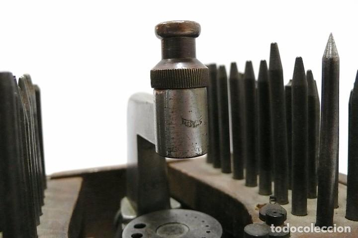 Antigüedades: Herramientas de precisión banquillo de relojero o joyero - C.1900 - Foto 7 - 80972016