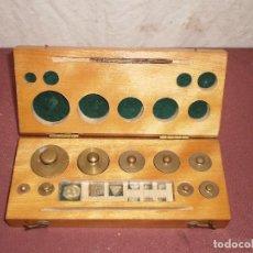 Antigüedades: CAJA DE PESAS (P)... XIX / XX . Lote 81002416