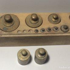 Antigüedades: ANTIGUAS PESAS PARA PESO O BASCULA. Lote 81046338