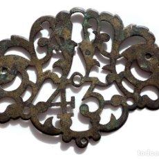 Antigüedades: CERRADURA EN BRONCE CON NUMERO 43 - 21 CM DE LARGO. Lote 81122608
