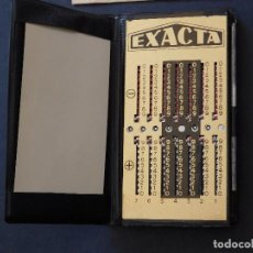 Antigüedades: CALCULADORA MANUAL EXACTA CON MANUAL DE USO. Lote 81165360