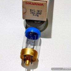 Antigüedades: LAMPARA (BOMBILLA) PARA PROYECTOR SYLVANIA-182 (150W/230V) (G-17Q) CON CAJA. Lote 141111141