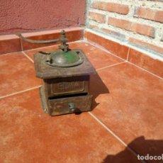 Antigüedades: ANTIGUO MOLINILLO DE CAFÉ EN CHAPA ELMA. Lote 81568728