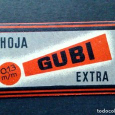 Antigüedades: HOJA DE AFEITAR ANTIGUA-GUBI-EXTRA-ACERO SUPERIOR 0'25 PTAS.-VINTAGE. Lote 81677032