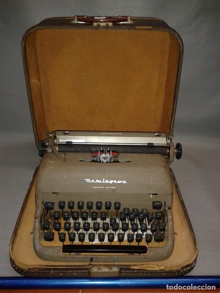 419- ANTIGUA MAQUINA ESCRIBIR ( PORTATIL) REMINGTON TAB MIRACLE OFFICE RITER ( AÑO 1956) (Antigüedades - Técnicas - Máquinas de Escribir Antiguas - Remington)