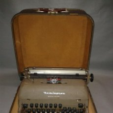 Antigüedades: 818- ANTIGUA MAQUINA ESCRIBIR ( PORTATIL) REMINGTON TAB MIRACLE OFFICE RITER ( AÑO 1956). Lote 81685884