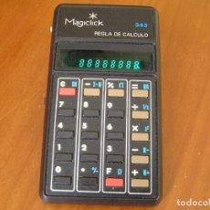 Antigüedades: CALCULADORA MAGICLICK 343 REGLA DE CALCULO AÑOS 70 MAGICLICK CALCULATOR SLIDE RULE TASCHENRECHNER. Lote 81744812