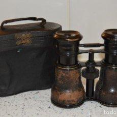 Antigüedades: ANTIGUOS BINOCULARES CON CAMBIO DE LENTES PARA 3 USOS DIFERENTES, FUNDA DE PIEL, AÑOS 20.. Lote 81827188