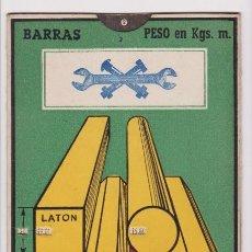 Antigüedades: REGLA: BARRAS Y CHAPAS DIFERENTES METALES. R.-101 MEBA PUBLICIDAD HIJO DE VICTOR MARTÍNEZ. MADRID. Lote 115981240
