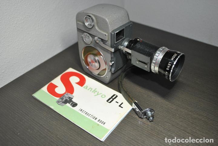 CAMARA DE CINE O TOMAVISTAS SANKYO 8-L CON ZOOM + CAJA ORIGINAL + MANUAL (Antigüedades - Técnicas - Aparatos de Cine Antiguo - Cámaras de Super 8 mm Antiguas)