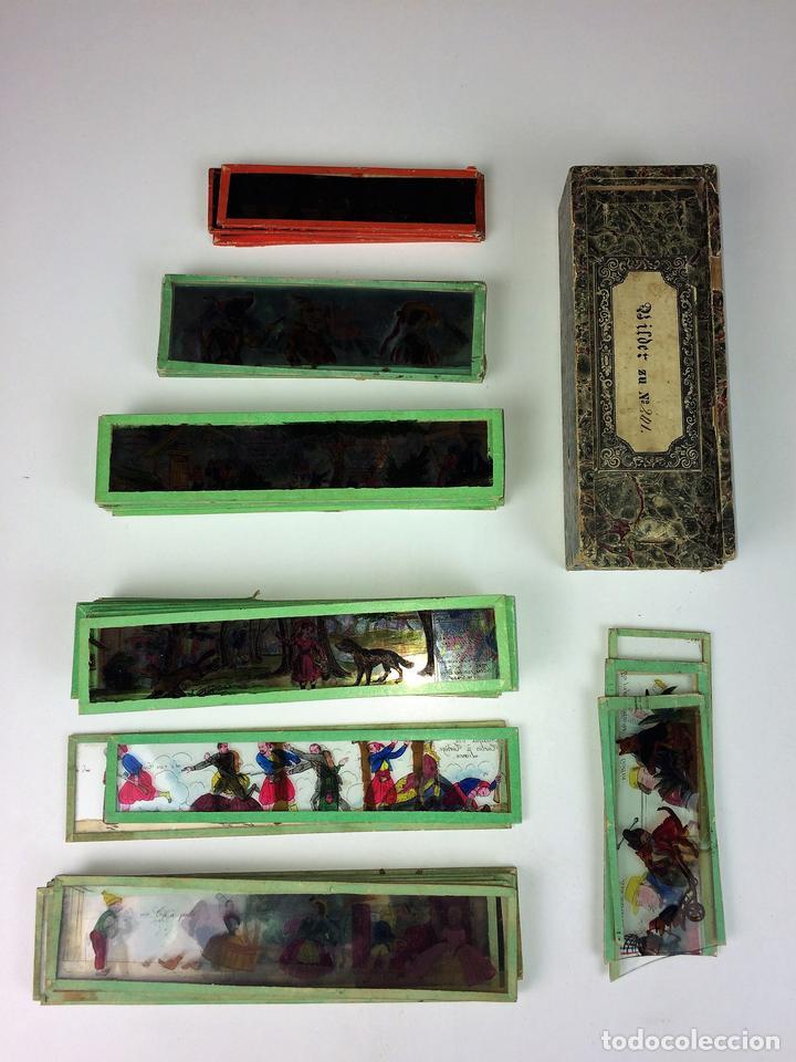 CRISTALES PARA LINTERNA MÁGICA. CON FÁBULAS. FRANCIA. ALEMANIA. CIRCA 1850 (Antigüedades - Técnicas - Aparatos de Cine Antiguo - Linternas Mágicas Antiguas)