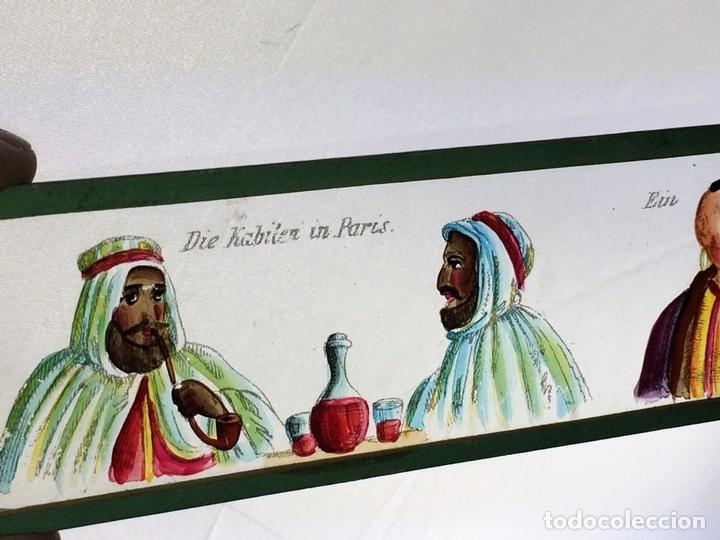 Antigüedades: CRISTALES PARA LINTERNA MÁGICA. CON FÁBULAS. FRANCIA. ALEMANIA. CIRCA 1850 - Foto 14 - 81997188