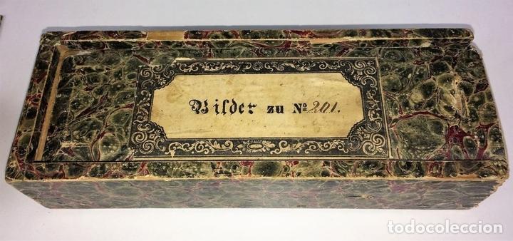 Antigüedades: CRISTALES PARA LINTERNA MÁGICA. CON FÁBULAS. FRANCIA. ALEMANIA. CIRCA 1850 - Foto 20 - 81997188