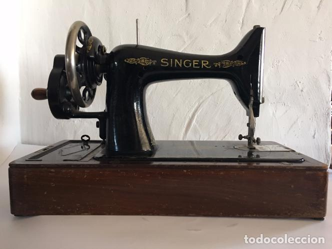 MAQUINA DE COSER SINGER DE MANIVELA (Antigüedades - Técnicas - Máquinas de Coser Antiguas - Singer)