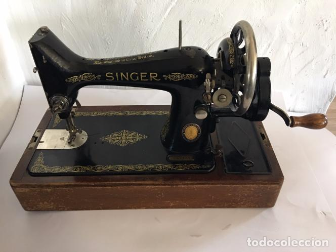 Antigüedades: MAQUINA DE COSER SINGER DE MANIVELA - Foto 4 - 82074808