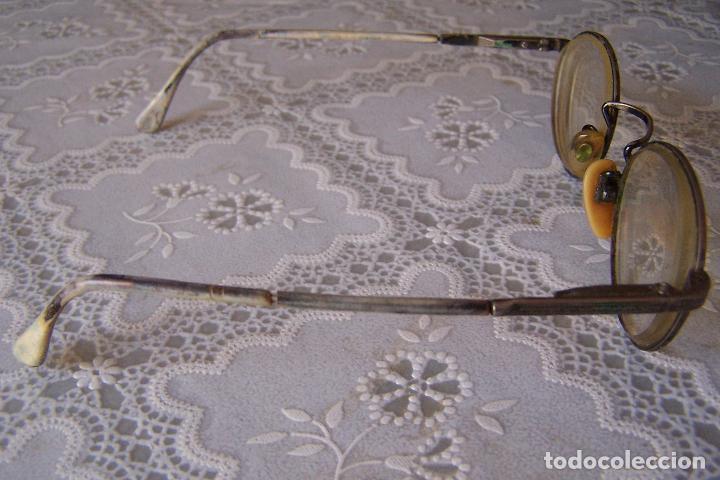 Antigüedades: GAFAS EN METAL LABRADO Y PASTA, GRADUADAS. - Foto 4 - 82322012